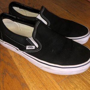 Black Slip-On Vans